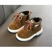 Осенние ботиночки с искусственным нубуком а029