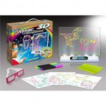"""Игровой 3D-планшет для рисования неоновыми маркерами """"Эра динозавров"""", световые эффекты"""