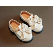 Туфли с бантиком,бежевые