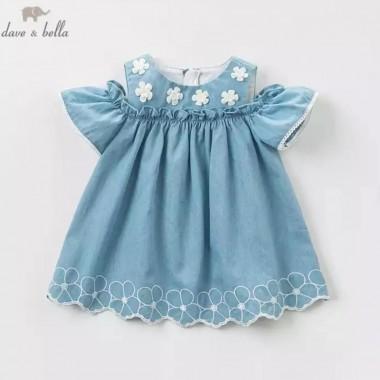 Платье с цветами для малышки