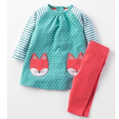 Платье с лисичкой