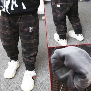 Утепленные брюки из вельвета