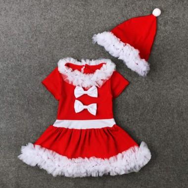 Платье новогоднее с шапкой
