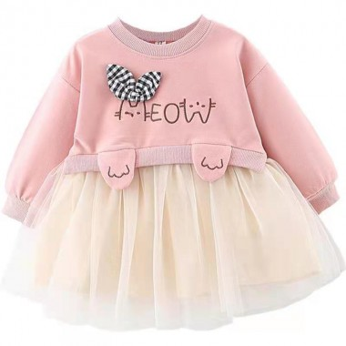 """Платье розовое """"Котик"""""""