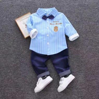 Комплект с голубой рубашкой