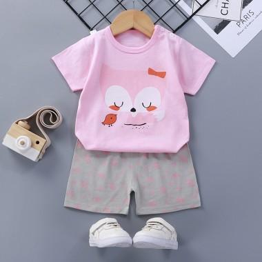 Комплект майка с шортами,розовая