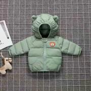 Куртка осенняя с капюшоном, зеленая