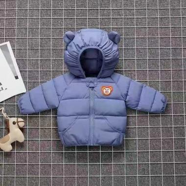 Куртка осенняя с капюшоном, синяя