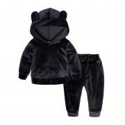 Бархатный спортивный костюм, черный